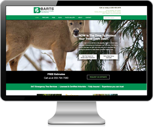 Barts Tree Care website