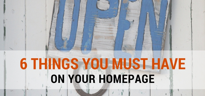 6 must-have homepage elements